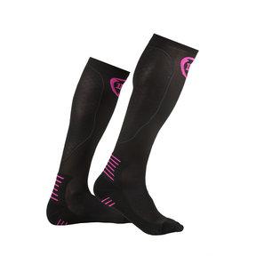 PRO Compressiekousen zwart / roze
