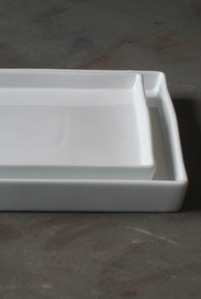 Wit porseleinen schaal 30x30x3