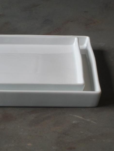 Wit porseleinen schaal 30x30x3-1
