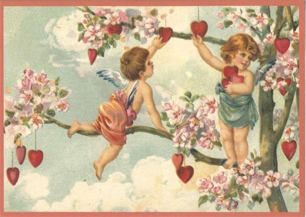 Kaart (enkel) Liefdesboom glitter 10,5x15cm-1
