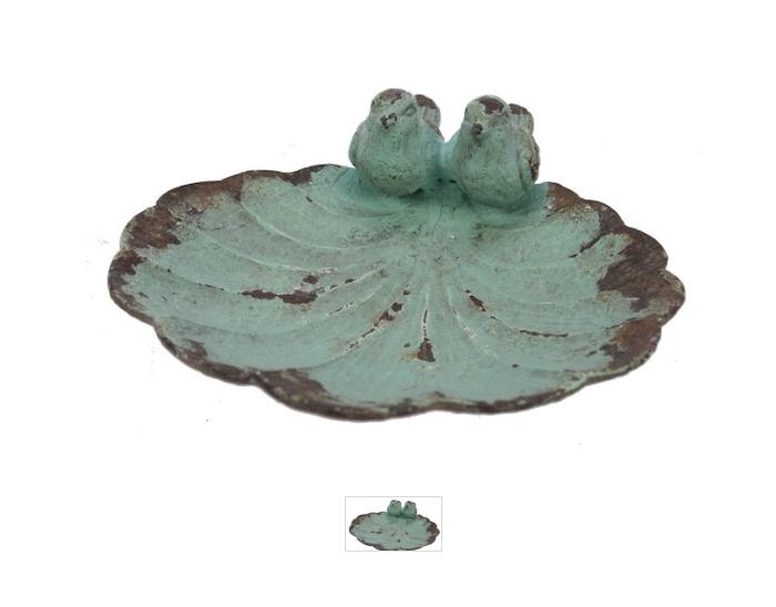 Schaaltje vogeltjes turq. 11x11x4cm-1