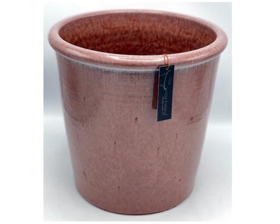 Roze geglazuurde konische bloempot 35X35CM-1