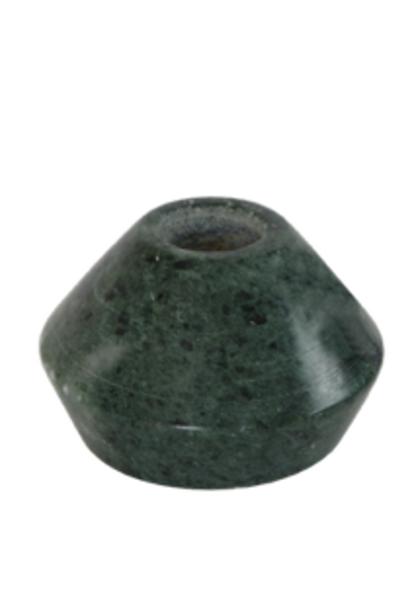 Kandelaar rond groen marmer 5cm