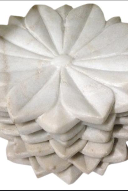 Marmeren lotus schaal van 38cm