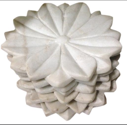 Marmeren lotus schaal van 38cm-1