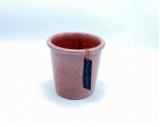 Roze geglazuurde konische bloempot 15X15CM-1