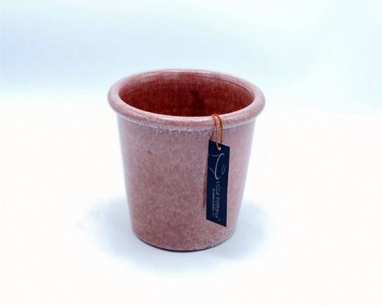 Roze geglazuurde konische bloempot 18X18CM-1