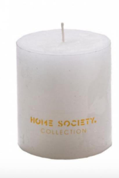 Pillar Candle 9x10cm White