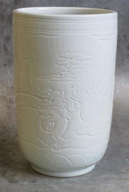 Porcelain pot Ø25xH40cm light Celadon
