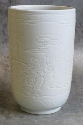 Porcelain pot Ø25xH40cm light Celadon-1