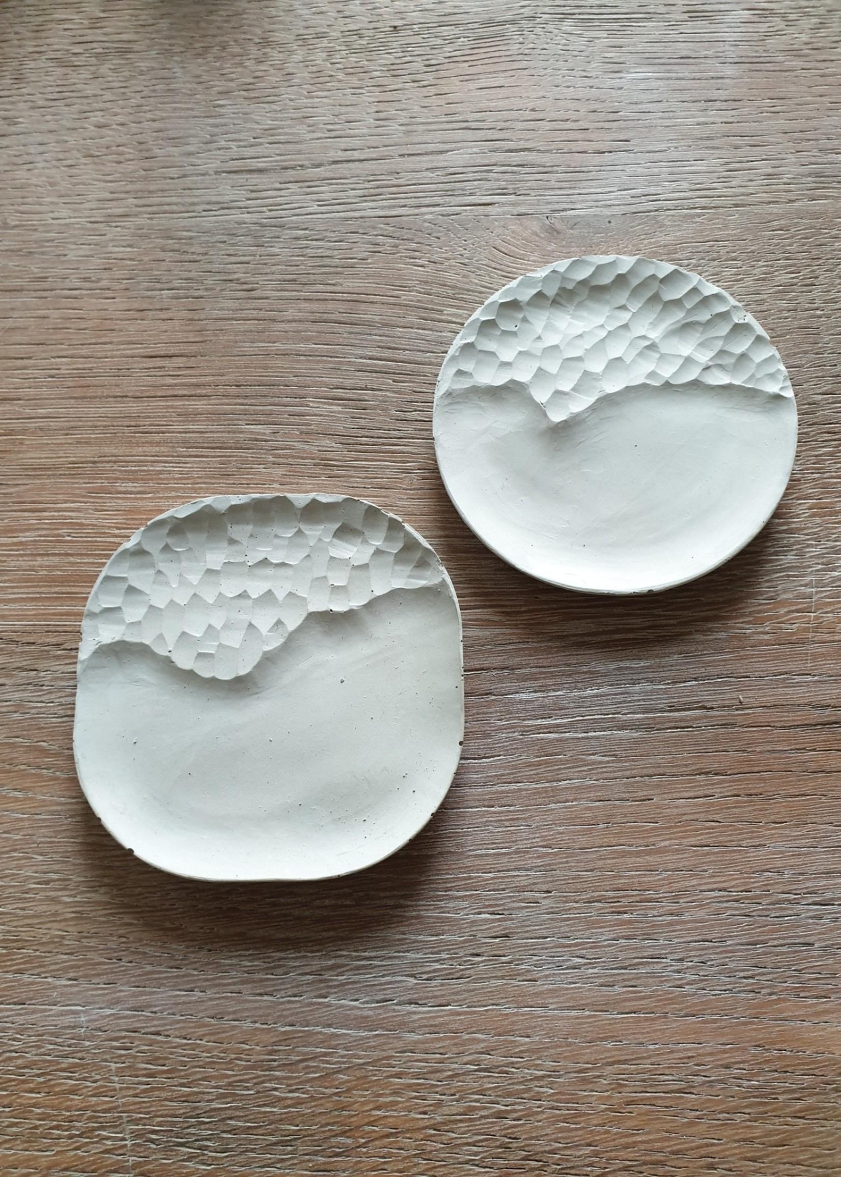 Set van 2 betonnen schaaltjes Nordic Design