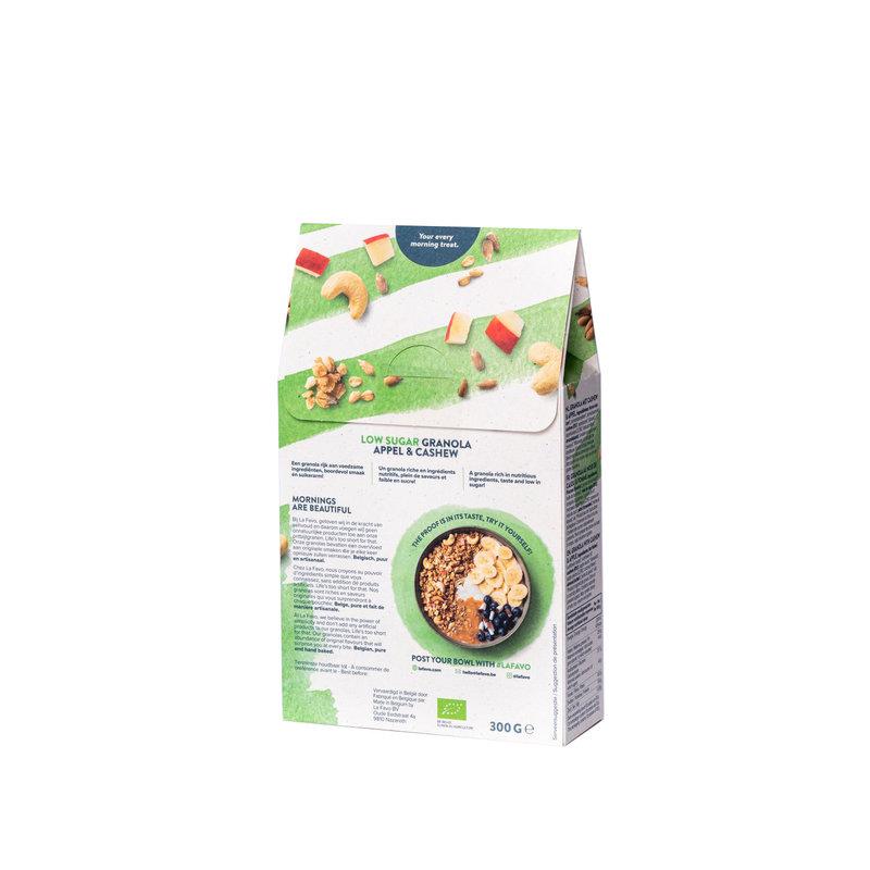 La Favo Biologische quinoa granola suikerarm - appel & cashew