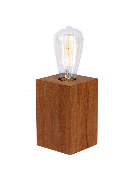 Daanish Houten bloklamp d1 dimbare led