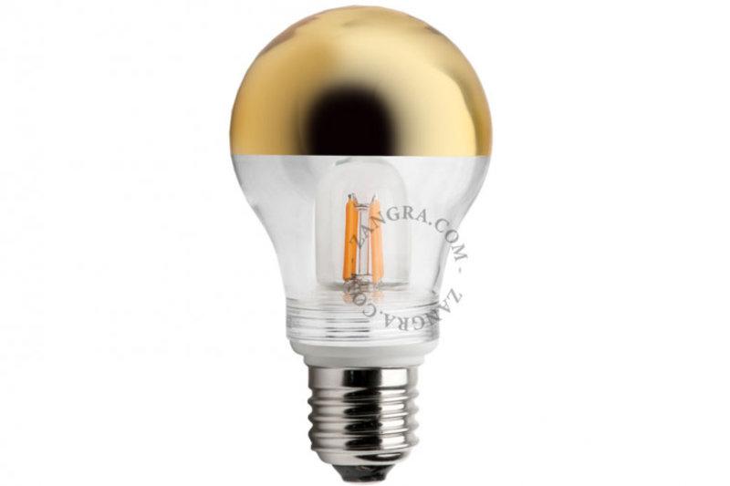Zangra Lightbulb.lf.001.15.060 kooldraad LED lamp – spiegel kroon goud