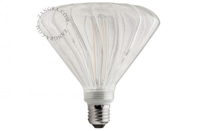 Zangra Lightbulb.lf.007.01.145 kooldraad LED lamp - 'mushroom' helder glas