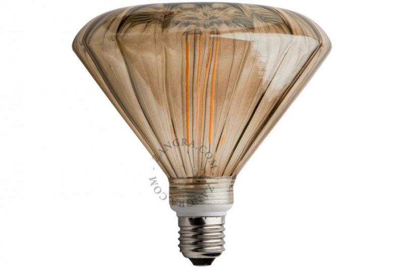 Zangra Lightbulb.lf.007.22.145 kooldraad LED lamp – 'mushroom' rookglas
