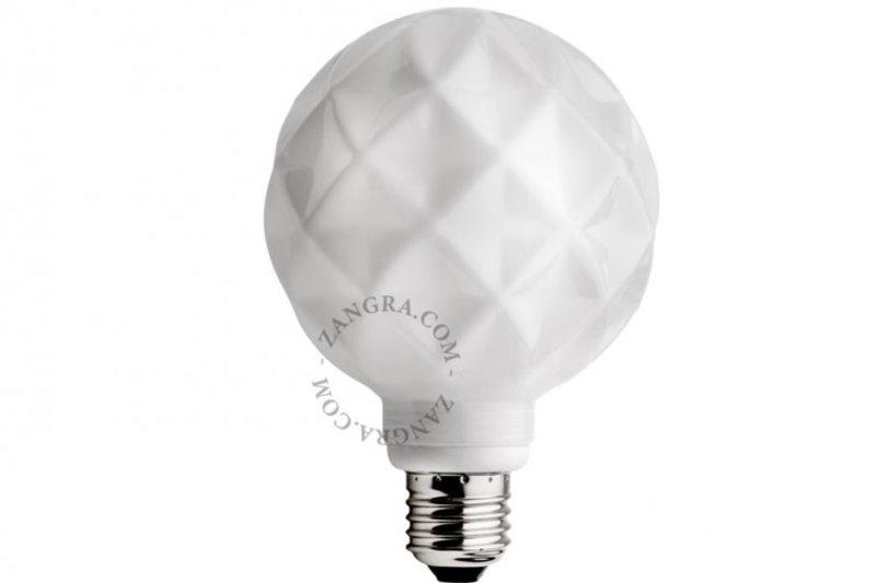 Zangra Lightbulb.lf.004.02.095 kooldraad LED lamp – 'concave' melkglas
