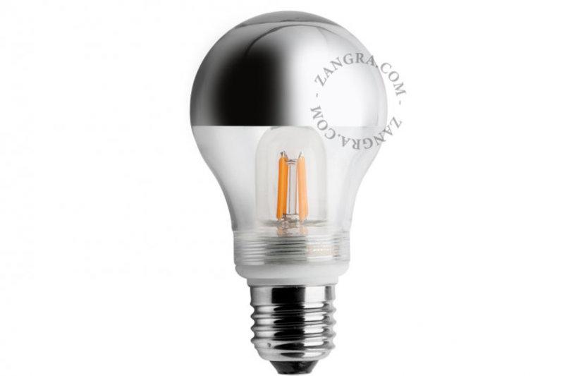 Zangra lightbulb.lf.001.11.060 kooldraad LED lamp – spiegel kroon zilver