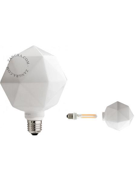 Zangra Lightbulb.lf.011.02.135 kooldraad LED lamp – 'quartz' melkglas