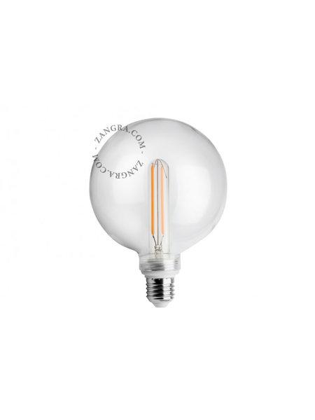 Zangra Lightbulb.lfc.001.01.125 kooldraad LED lamp – helder glas