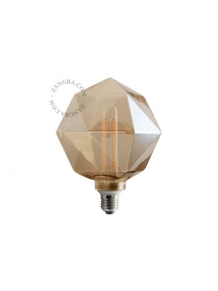 Zangra Lightbulb.lf.011.22.135 kooldraad LED lamp – 'quartz' rookglas
