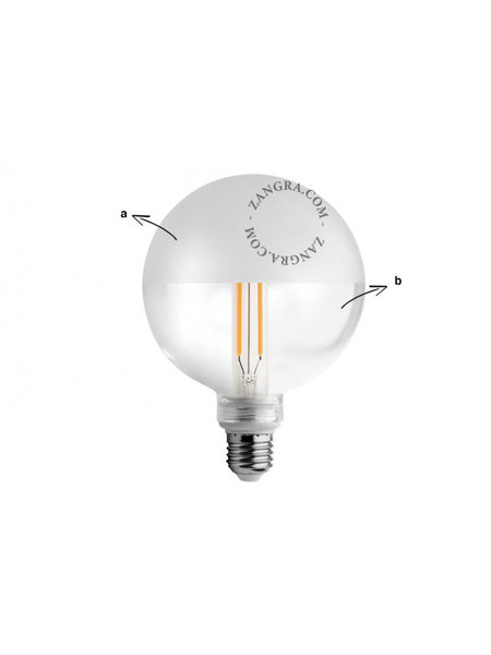 Zangra Lightbulb.lf.001.07.125 kooldraad LED lamp – helder + mat glas
