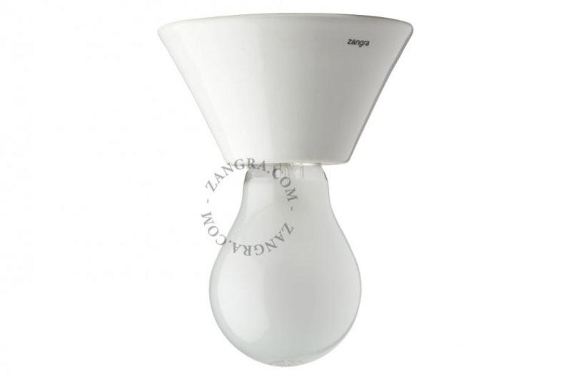 Zangra Lamp puur porselein wit