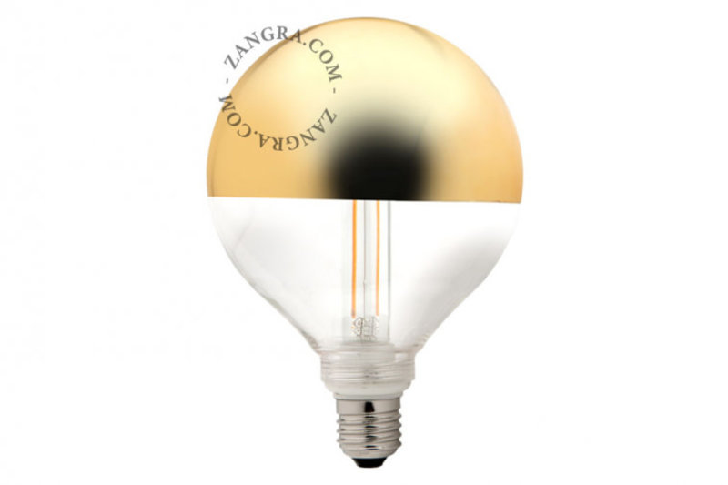 Zangra Lightbulb.lf.001.15.125 kooldraad LED lamp – spiegel kroon goud