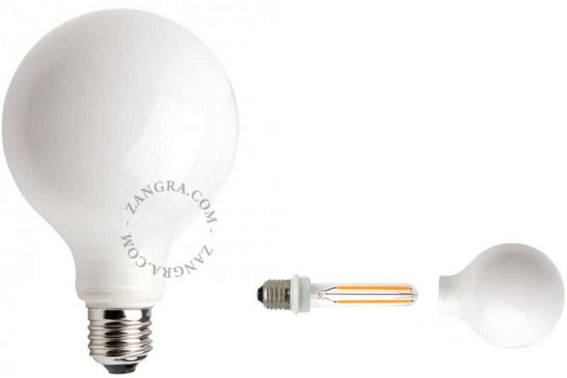 Zangra Lightbulb.lf.001.02.095 kooldraad LED lamp – melkglas