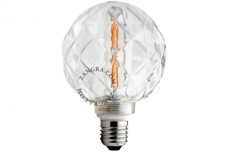 Zangra Lightbulb.lf.004.01.095 kooldraad LED lamp – 'concave' helder glas