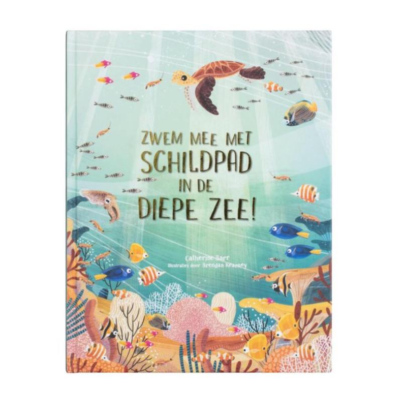 Zwem mee met de schildpad in de diepe zee