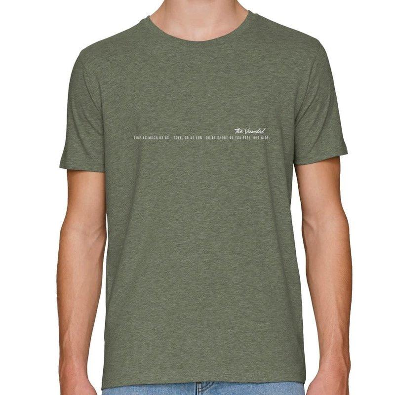 The Vandal Bio T-shirt ride your bike melange kaki