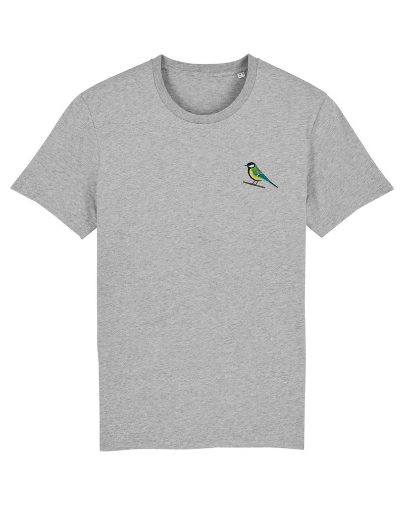 Oizeau Bio T-shirt koolmees lichtgrijs