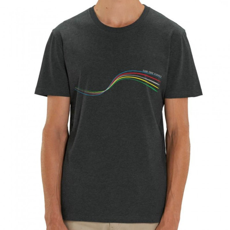 The Vandal Bio T-shirt earn your stripes donkergrijs