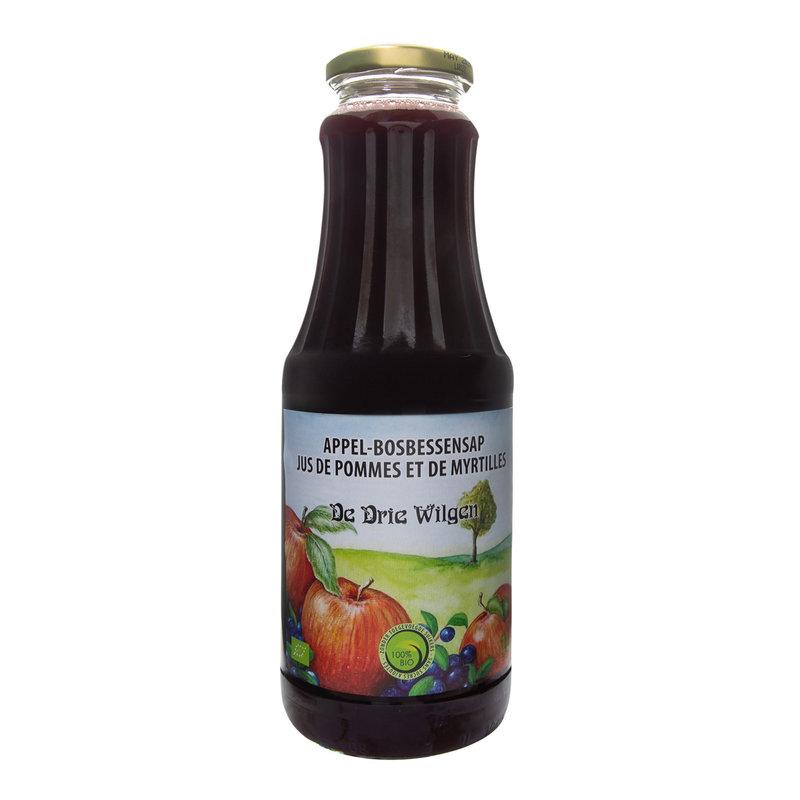 De Drie Wilgen Bio appel-bosbessensap 75cl