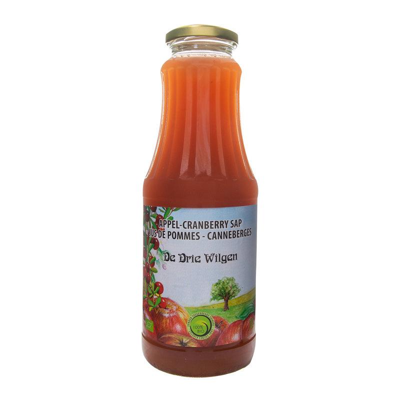 De Drie Wilgen Bio appel-cranberrysap