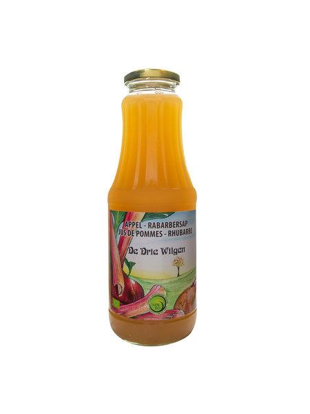 De Drie Wilgen Bio appel-rabarbersap 75cl