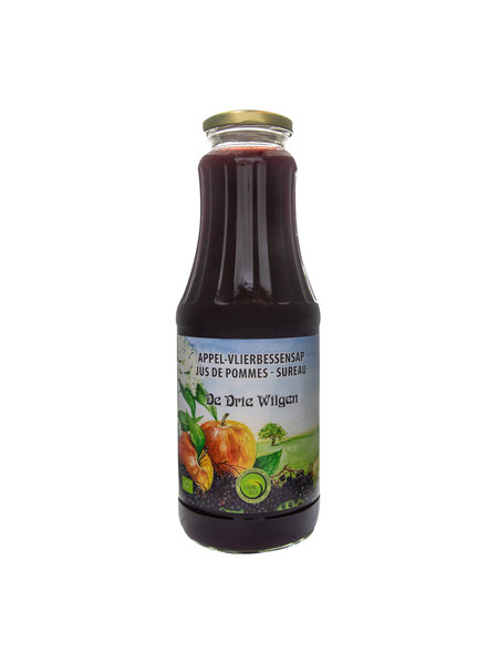 De Drie Wilgen Bio appel-vlierbessensap 75cl