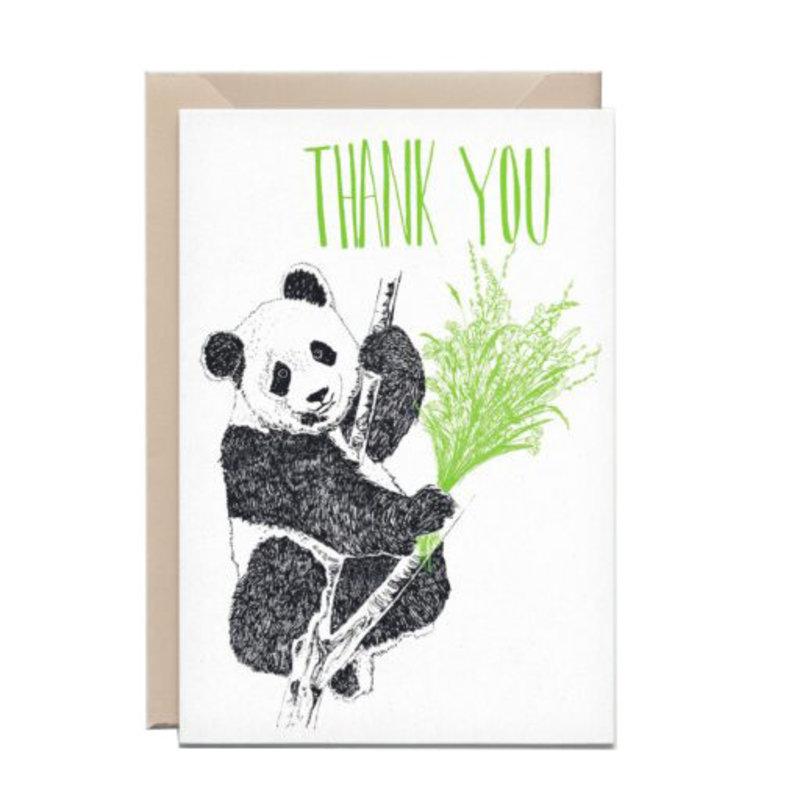Kathings Wenskaart panda thank you