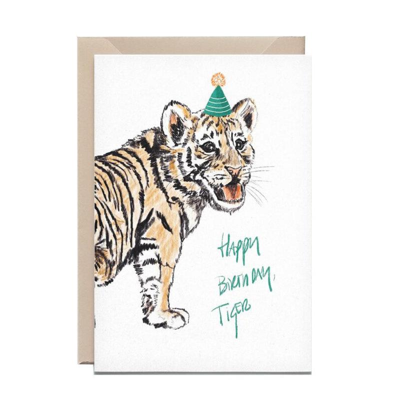 Kathings Wenskaart tiger happy birthday
