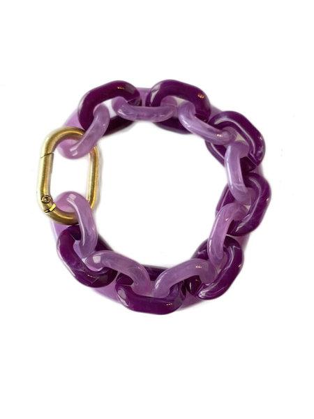 L'histoire de sophie Schakel armband acrylaat purple rain