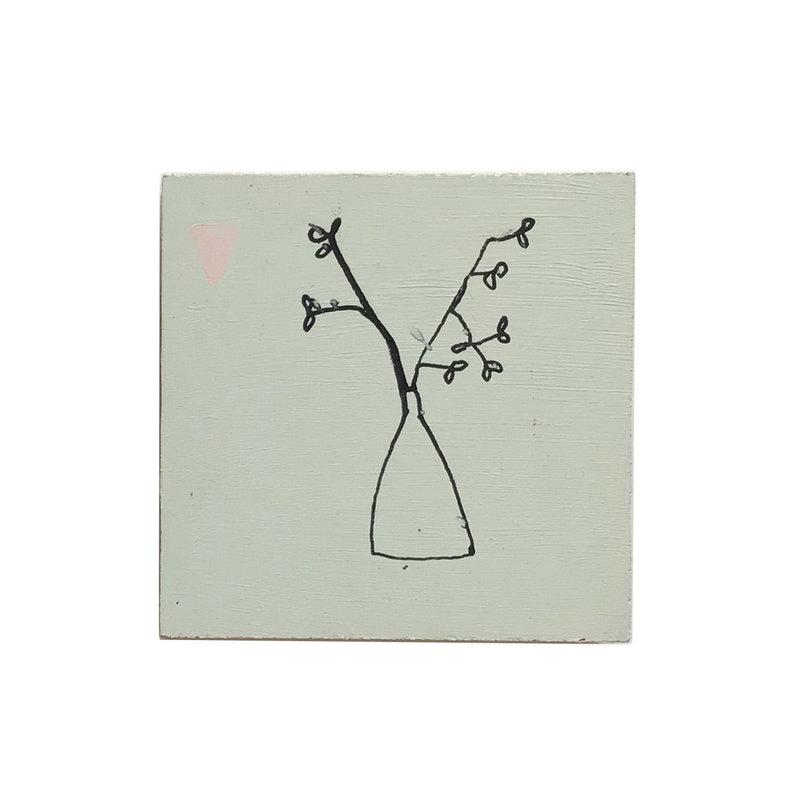 Francoise Beck Blokje kunst witte vaas