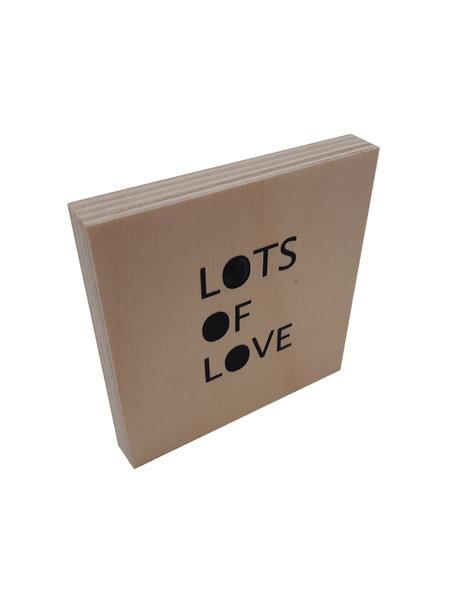 Woodblocks Lots of love
