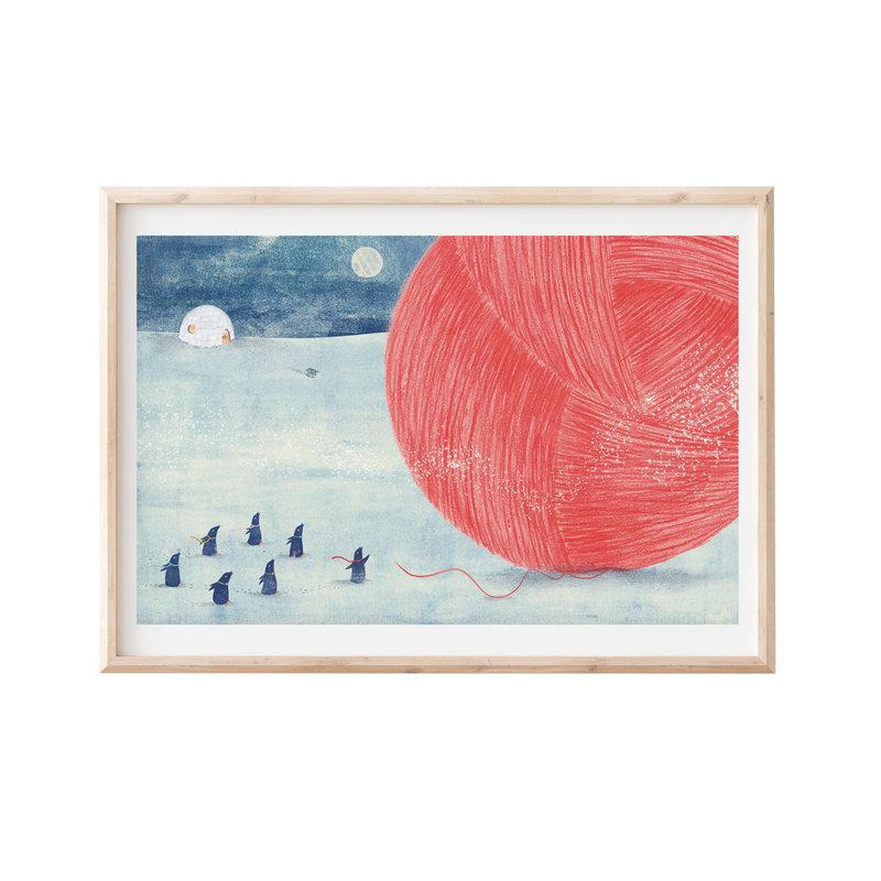 Artprint 30x40 pinguin bol