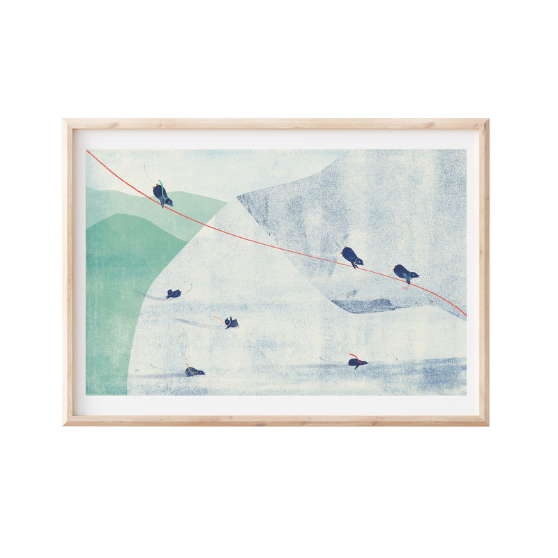 Francoise Beck Artprint 30x45 pinguin slide