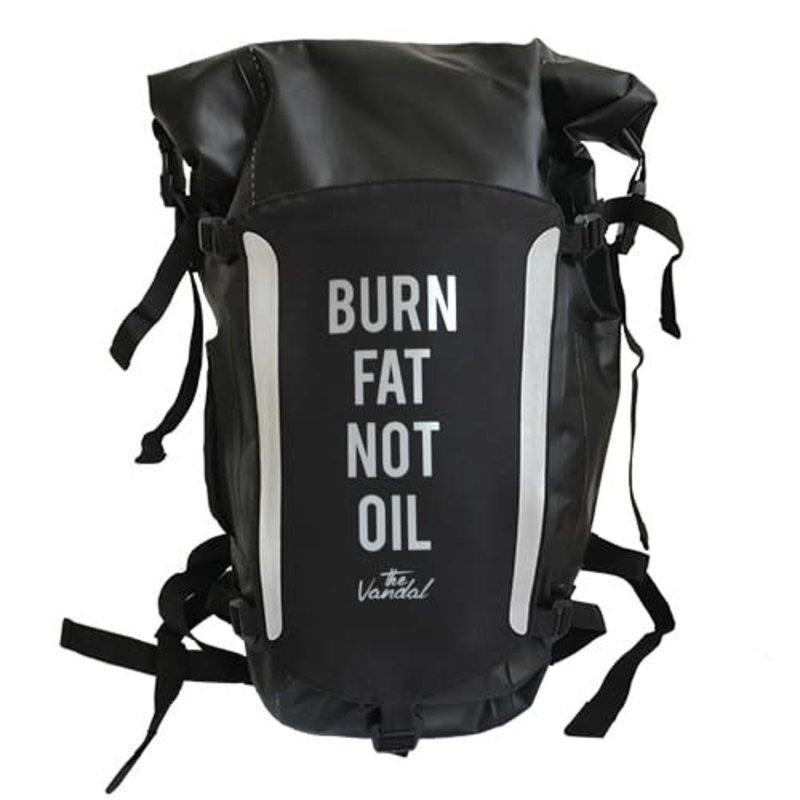 The Vandal Rugzak burn fat not oil zwart