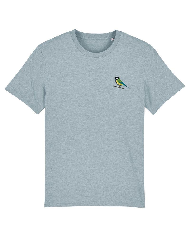 Oizeau Bio T-shirt koolmees blauwgrijs
