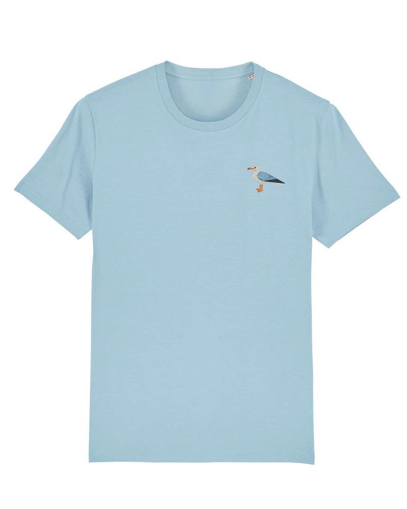 Oizeau Bio T-shirt meeuw lichtblauw