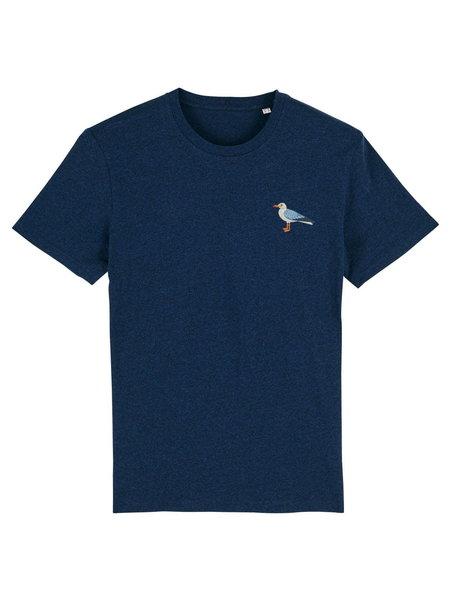 Oizeau Bio T-shirt meeuw donkerblauw