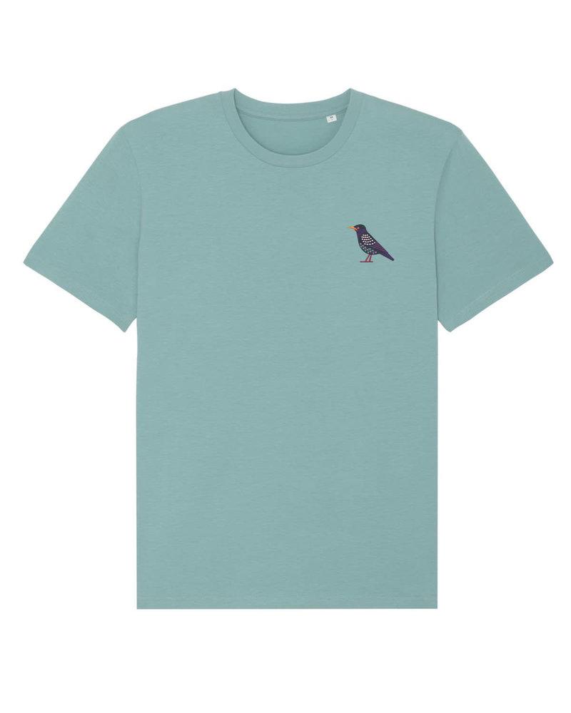 Oizeau Bio T-shirt spreeuw blauwgroen